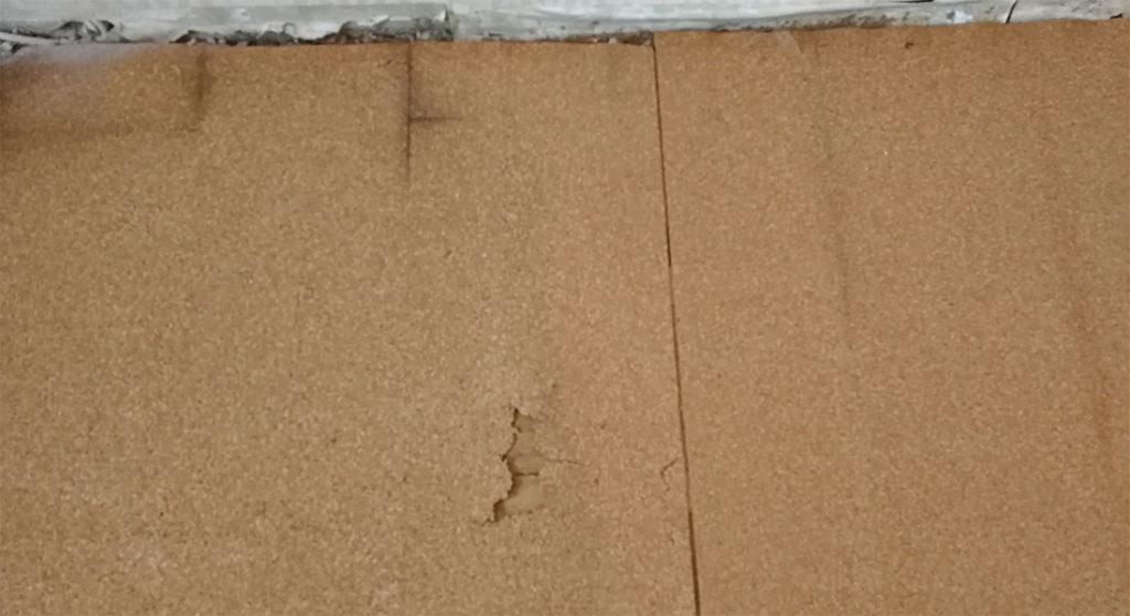 Пробковая подложка под старым ламинатом, около 5 лет